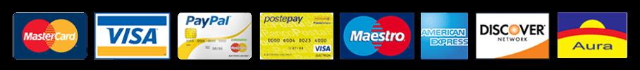 Lionaze - Carte di credito accettate