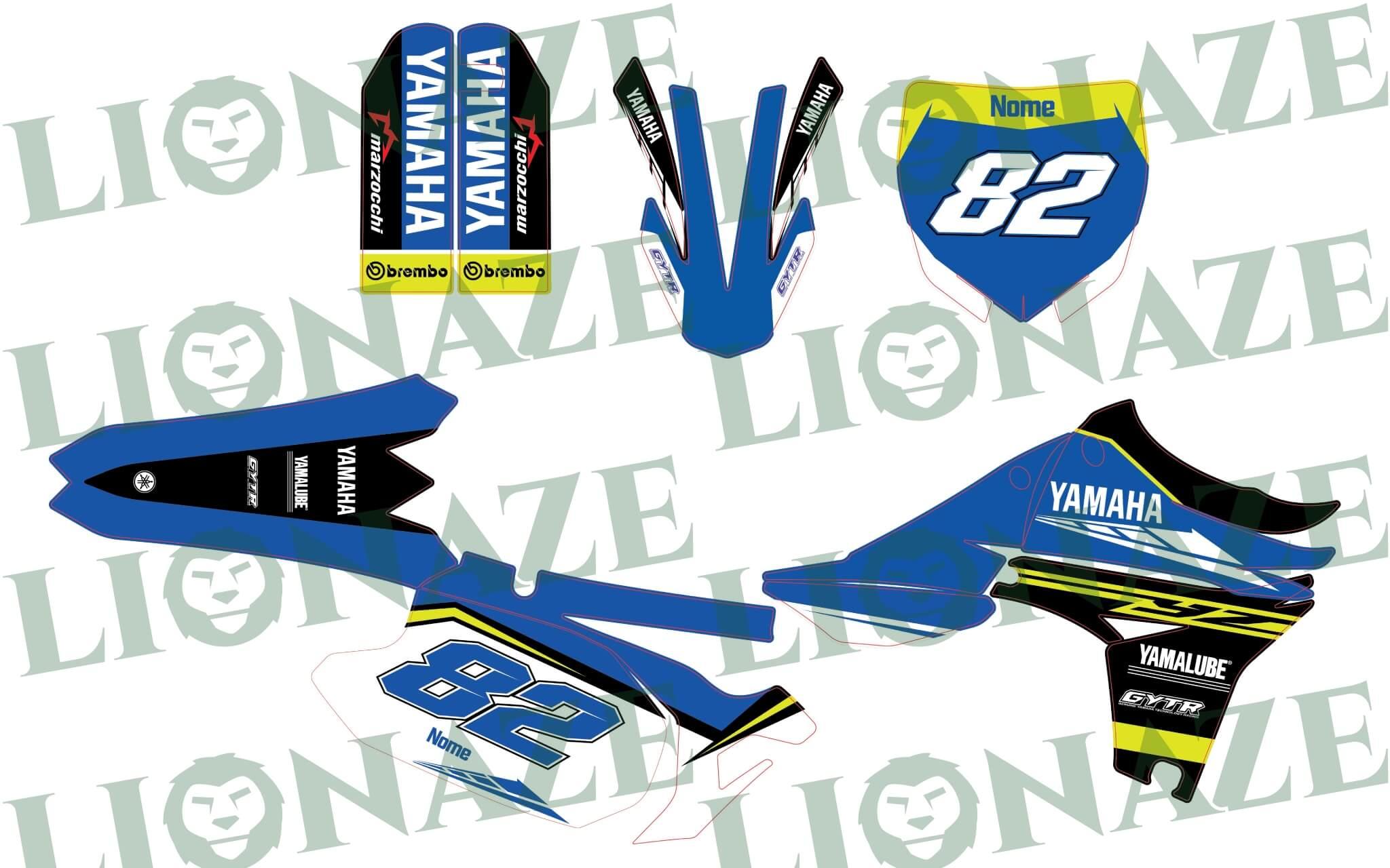 Grafiche Personalizzate Yamaha Marzocchi YZ 2010 – 2013